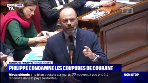 Depuis l'Assemblée Nationale, Edouard Philippe appelle à la répression des grévistes