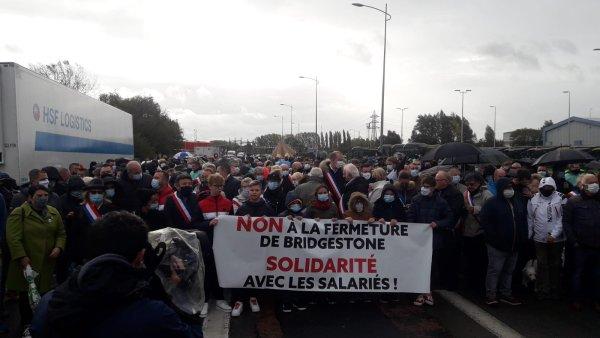 Béthune. 1500 personnes en solidarité avec les Bridgestone : les travailleurs doivent prendre la lutte en main !