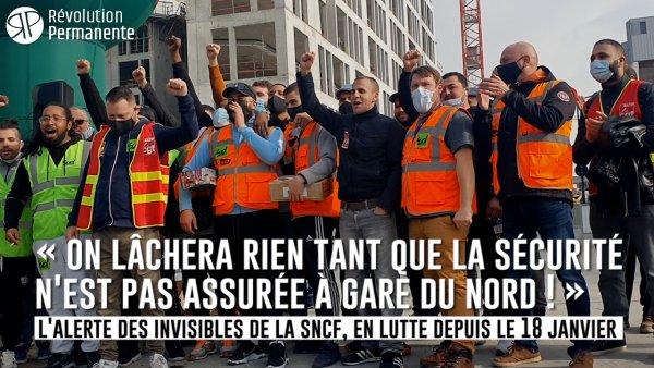Reportage | Grève SNCF. « On lâchera rien tant que la sécurité n'est pas assurée à Gare du Nord ! »