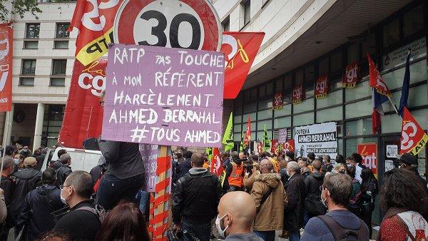 « S'ils virent Ahmed, on perd toutes ! » Les agents RATP mobilisés contre la répression et les violences sexistes